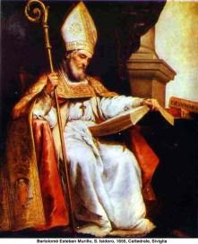 """Santo Isidoro de Sevilha 560-636. Considerado """"o último acadêmico do mundo antigo""""."""