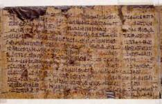 O papiro é  atualmente mantido na Rijksmuseum van Oudheden de Leyden, na Holanda. Está marcado Papiro de Leiden I 344 recto.